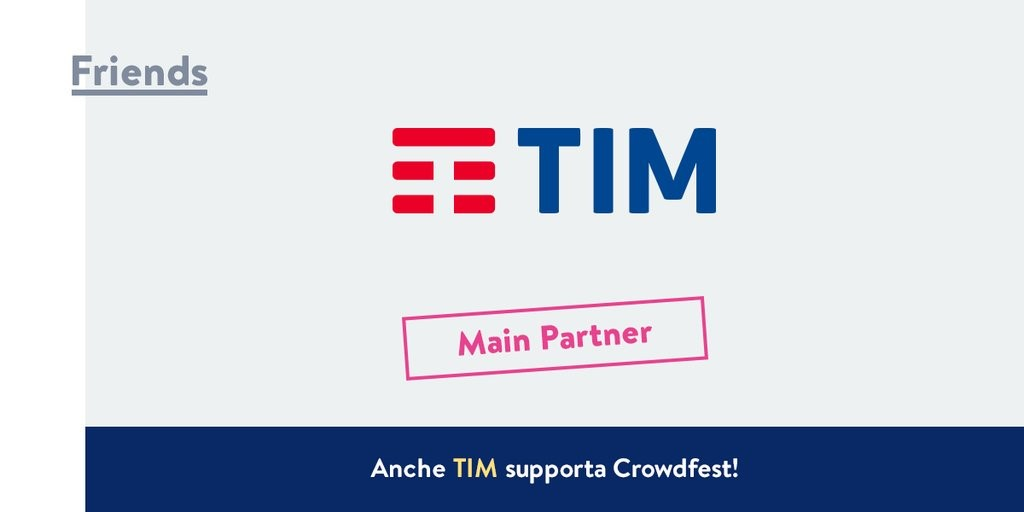 TIM - Main Partner Crowdfest 2016