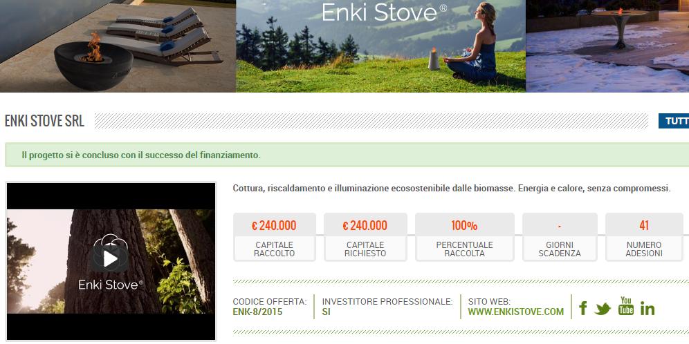 Enki Stove - Equity Crowdfunding