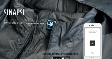 Sinapsi, la giacca termica personalizzabile con un'app
