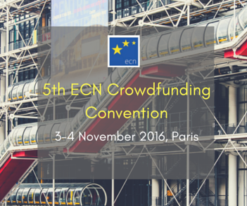 5th ecn crowdfunding convention banner