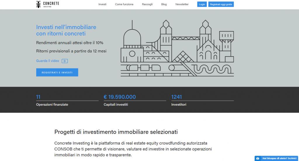 investimento immobiliare CONCRETE