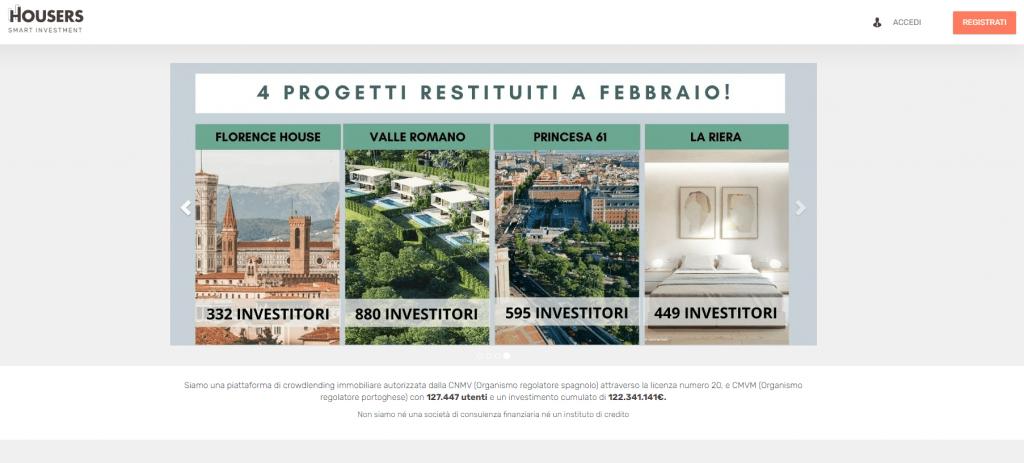 investimenti immobiliare HOUSERS